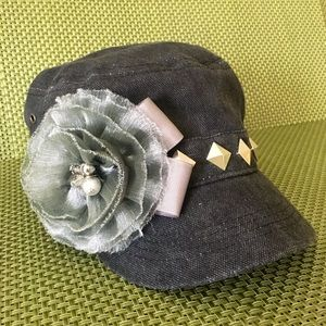 Cadet Hat-Gray Embellishments